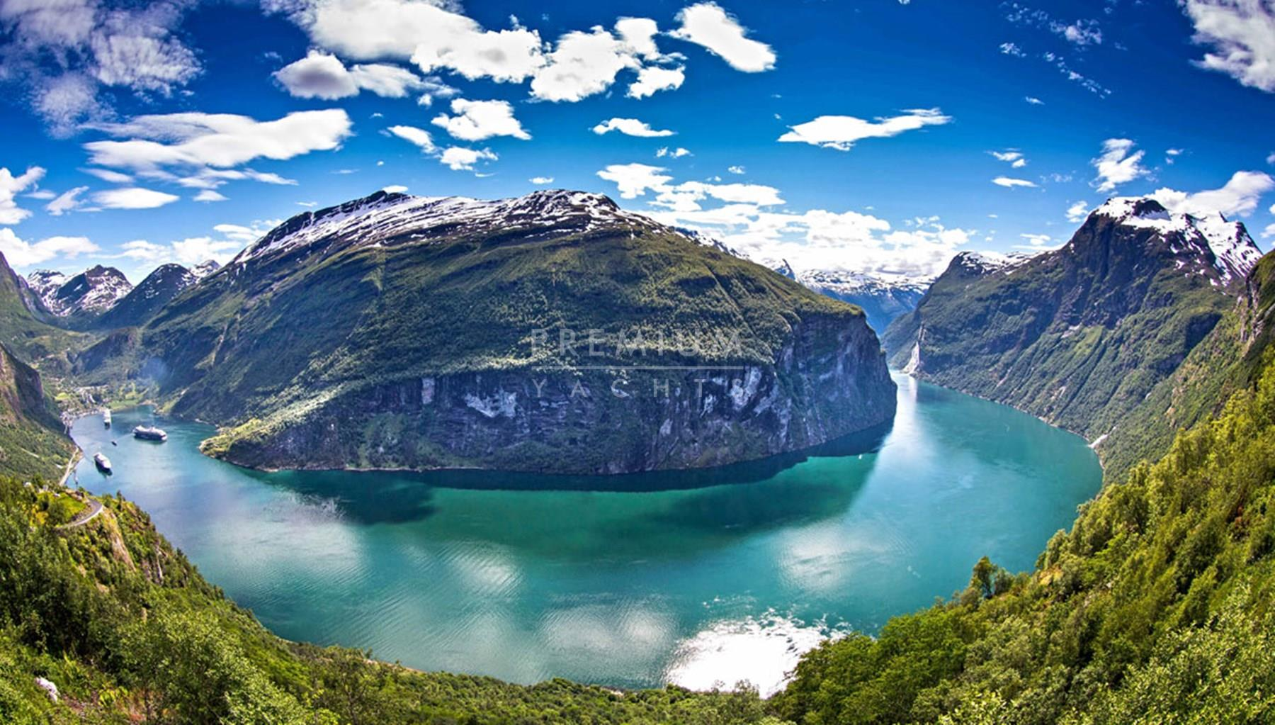 Geirangerfjord, the third largest fjord in the world